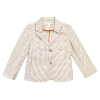 Marie Chantal Children's Cream Stripe Blazer