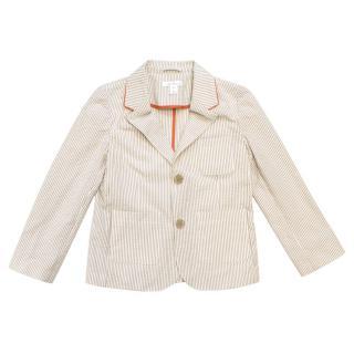 Marie Chantal Children's Cream Stripe Blazer