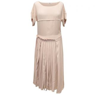 Prada Pale Pink Dress with Front Pleats