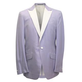 Gianni Versace Lilac Mens Blazer With Cream Lapel