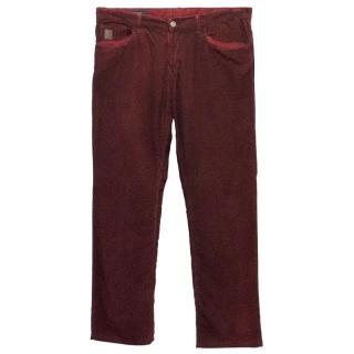 Gucci Corduroy Wine Coloured Mens Trousers