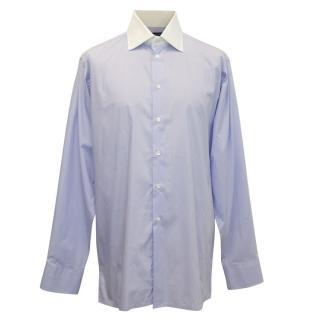 Richard James Mens Purple Shirt With White Collar