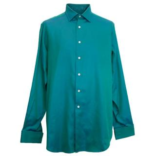 Richard James Teal Metallic Mens Shirt
