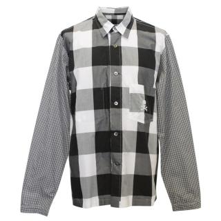 Mastermind Mens Black and White Checkered Shirt