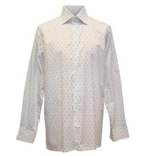 Richard James Mens Dotted White Shirt