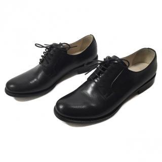 Jil Sander Classic Lace Up Oxfords Black Leather