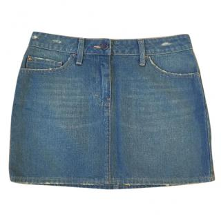 Pringle 100% cotton blue denim mini skirt