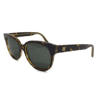 Balenciaga Tortoise Classic Wayfarer Sunglasses
