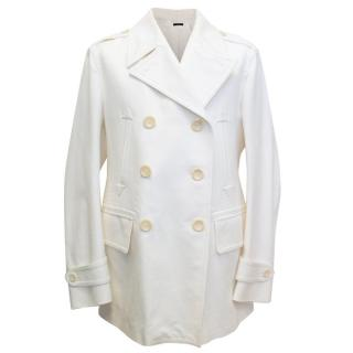 Tom Ford Mens Double Breasted Cream Jacket