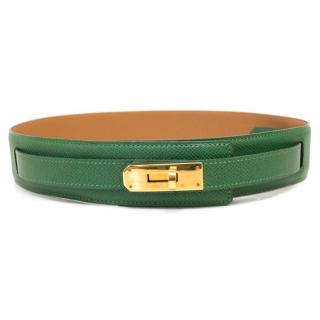 Hermes Green Kelly Waist Belt with Gold Hardware
