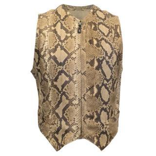 Gianni Versace Mens Python Waistcoat