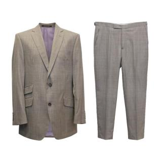 Richard James Grey White and Lilac Checked Suit with Lilac Lining