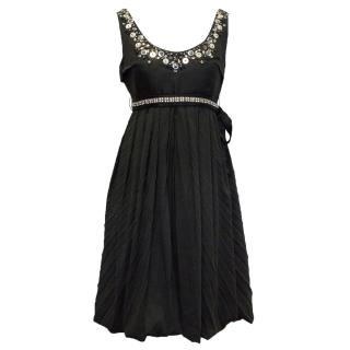Chloe Black Dress with Sequin Embellishment
