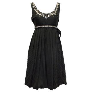Chloe Black Dress with Sequin Embellishment