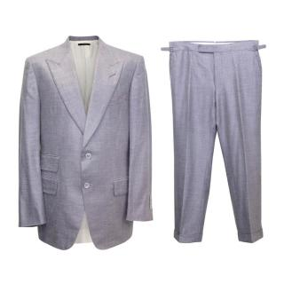Tom Ford Mens Indigo Two Piece Suit