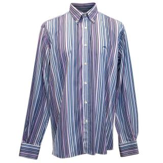 Etro Pink, Blue and Purple Striped Shirt