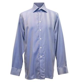Richard James Blue Dress Shirt with Cut Away Collar