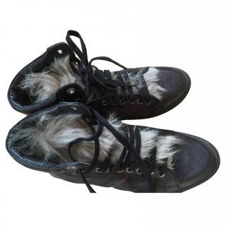 Moncler Faux Fur Boots