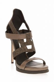 Camilla Skovgaard Metallic Strappy Stiletto Shoes