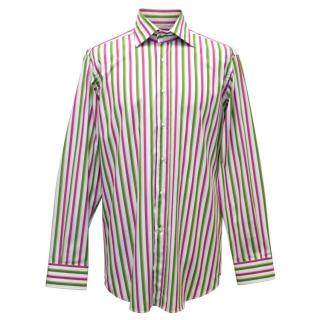 Etro Pink and Green Striped Shirt
