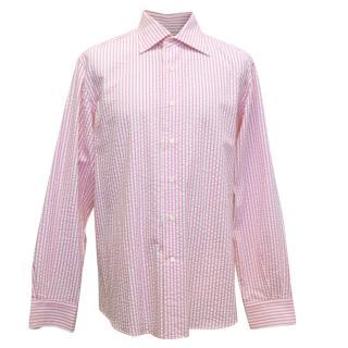 Etro Pink and White Pinstripe Shirt