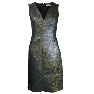 Jil Sander Structured Iridescent Shift Dress