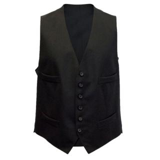 Tom Ford Black Wool Waistcoat