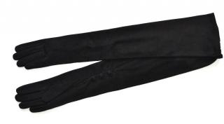 Ralph Lauren Collection black suede long gloves