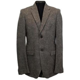 Jil Sander Dark Grey Tailor Made Tweed Jacket