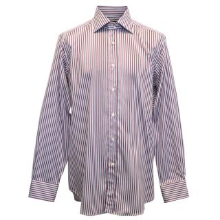 Etro Red and Blue Pinstriped Shirt