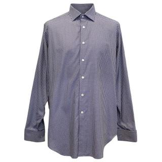 Richard James Dog Tooth Check Shirt