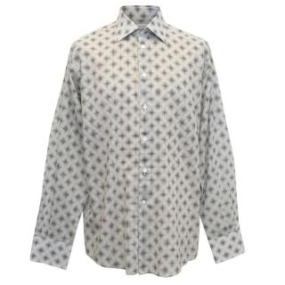 Richard James Black and White Dot Pattern Shirt