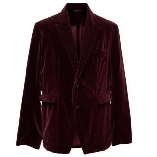Dolce & Gabbana Wine Velvet Jacket
