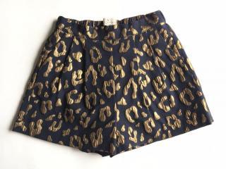 Essentiel Antwerp navy & gold brocade Hathi shorts