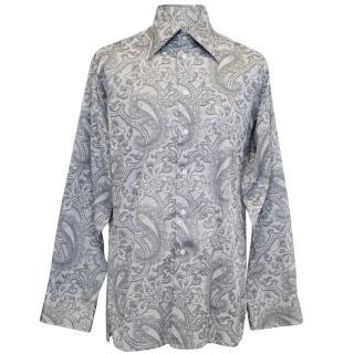 Richard James Grey Floral Pattern Shirt
