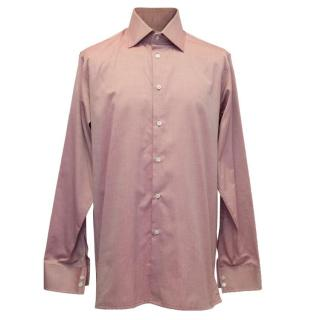 Richard James Pink Shirt with Cut Away Collar