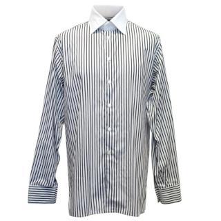 Richard James White and Black Striped Shirt