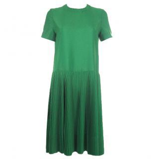 Jil Sander Lumen Pleated Crepe Dress