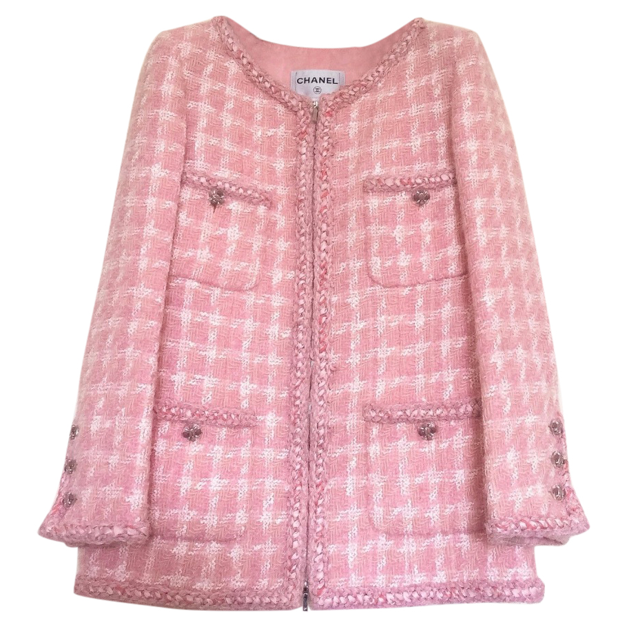 Chanel Runway Supermarket Collection Pink Tweed Jacket Iconic ...
