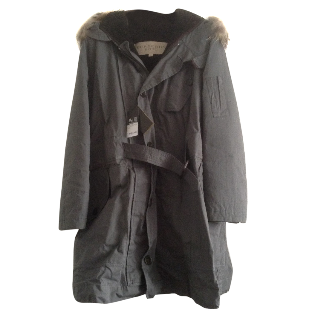 Burberry  men's parka, the ultimate winter parka, canvas, shearling fur BNWT