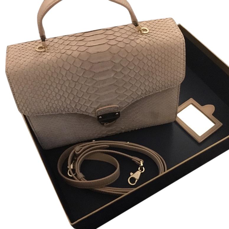 Aspinal Mayfair nubuck Python bag