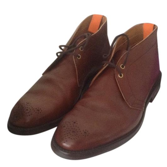 Tricker men's handmade boots, size 9.5, brogue detail, quality