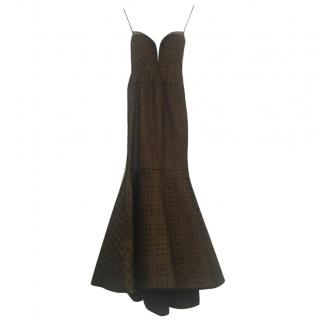 J Mendel Bronze Evening Gown