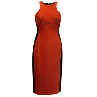 Stella McCartney Red And Black Bodycon Dress