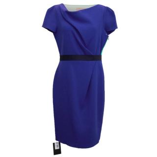 Roksanda Ilincic Ayden Dress With Navy Belt