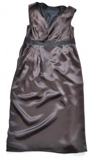 Lanvin silk brown cocktail dress