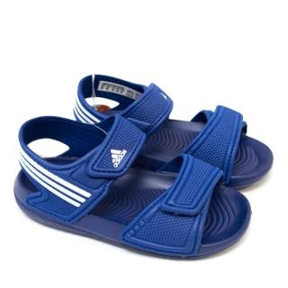 Adidas Children's Blue and White Velcro Sandals