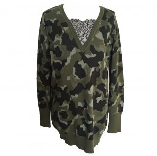Red Valentino lace military tunic top