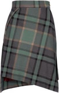 Vivienne Westwood green tartan skirt size 8