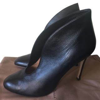 Gianvito Rossi Black Leather Vamp Boots
